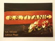 Titanic Lifeboat Plaque